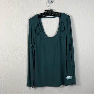 NWOT PINK Victoria's Secret Cutout Sleeve Shirt